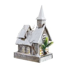 Adorn your home with the Melrose Homestead Holiday Church - Set of 2 , crafted of wood in a charming church design completed with a steeple and stained. Pottery Houses, Wood Blinds, Christmas Figurines, Ceiling Medallions, Christmas Villages, Christmas Wood, Weathered Wood, Bird Houses, Wooden Houses