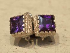 Violet and silver earrings #elegance #giuseppinafermi #gioielli #orecchini #madeinitaly #classic #violet #silver #aretes #beautifulaccesories