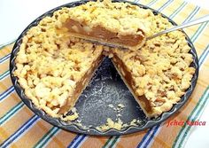 Pudingos almás pite recept foto Sweets Recipes, Cookie Recipes, Desserts, Quiche, Smoothie Fruit, Kaja, Macarons, Snacks, Food And Drink
