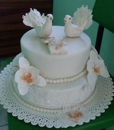 s holubkami , svadobné torty   Tortyodmamy.sk