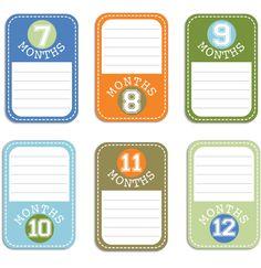 Baby Boy Journal Cards Set 2