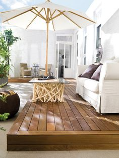  Beautiful Living Spaces Outdoors – contemporary – deck – other metro – by Porcelanosa USA Inside A House, Outdoor Rooms, Indoor Outdoor Living, Outdoor Areas, Outdoor Decking, Outdoor Decor, Patios, Porches, Pergola