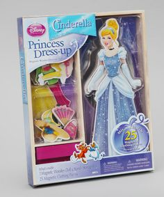 Take a look at this Cinderella Princess Magnetic Dress-Up Set by Disney on #zulily today!