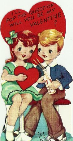 Vintage Valentine * 1500 free paper dolls at Arielle Gabriel's The International Paper Doll Society and The China Adventures of Arielle Gabriel for Chinese and Japanese paper dolls free *