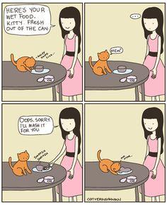 Wet Food -cat versus human by Yasmine Surovec  http://www.catversushuman.com