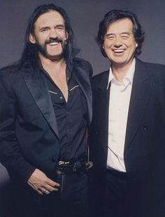 Another shot of Jimmy Page w/ Motorhead's Lemmy.