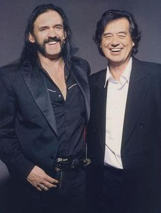 Another shot of Jimmy Page w/ Motorhead's Lemmy.