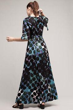 Mirei Silk Maxi Dress - anthropologie.com