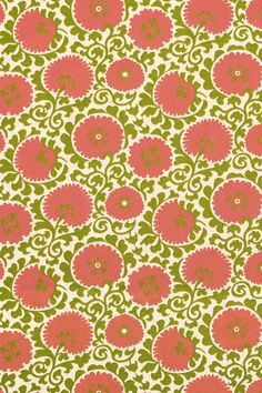 Thibaut is the nation's oldest designer wallpaper firm. Since being established in our catalog now includes fine fabrics and high-end furniture. Fabric Sofa, Suzani Fabric, Wallpaper For Your Phone, Red Pattern, Green Cream, Fabulous Fabrics, Green Fabric, Fine Furniture, Designer Wallpaper