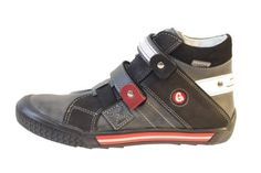 GASPAR fashion sneaker (Little Kid/Big Kid) Grey black leather Gaspar. $55.00
