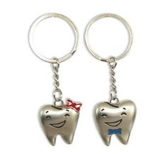 2 Dental Keychain for Dentist Team Gift Molar Tooth with Happy Face | eBay