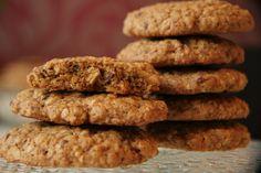 Cookies med grovt mel, havregryn og kokosblomstsukker