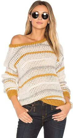 AYNI Mullu Crochet Sweater in White
