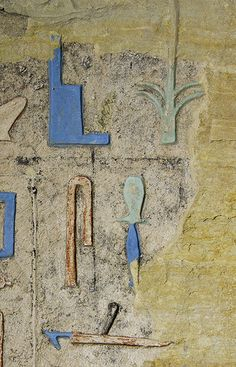 Colors in the Tomb of Nyankhnefertem , Saqqara , egypt.