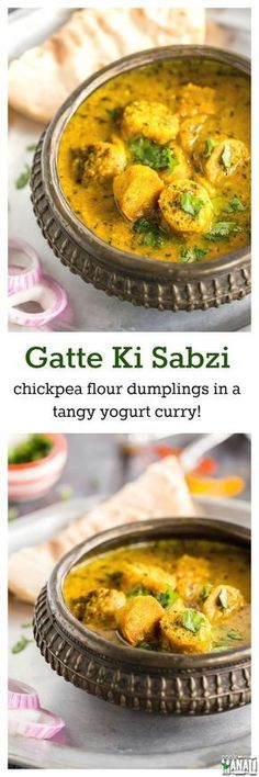 Gatte Ki Sabzi is a popular curry from the state of Rajasthan, tastes great with rice or roti. Find the recipe on www.cookwithmanali.com