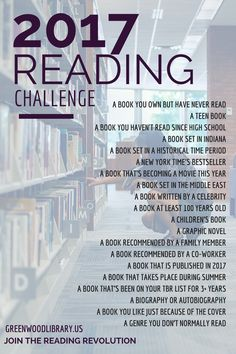 Participate in our 2017 Reading Challenge, and join the Reading Revolution!