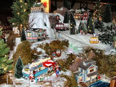 department 56 displays | Department 56 - Part of our 70' x 10' Display | Flickr - Photo Sharing ...
