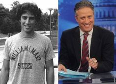 Ok, Jon Stewart. I see you!  young comedians 11 Comedians when they were young (16 photos)