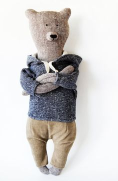 Jacob The Bear. Primitive teddy Bear. Child friendly toys. Soft Bear - Best Friend for kids