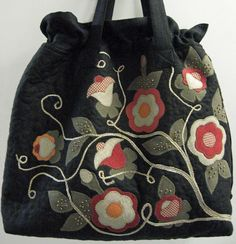 Ulla's Quilt World: Quilt bag, applique