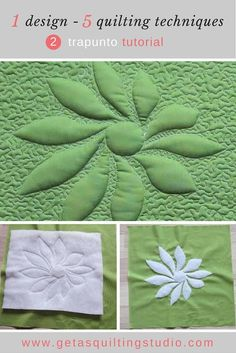 How to make trapunto quilts- tutorial