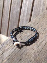 Smoky Single Wrapped Ladder Bracelet by VanaLynn on Etsy, $55.00