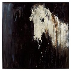 Horse In The Rain | Canvas | Art by Type | Art | Z Gallerie