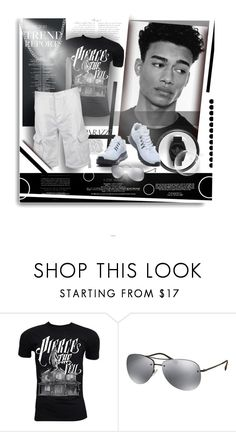 """""""SUMMERTIME IN BLACK & WHITE"""" by angelflair ❤ liked on Polyvore featuring Retrò, Kerr®, Industrie, Prada, adidas Originals, men's fashion, menswear and black"""