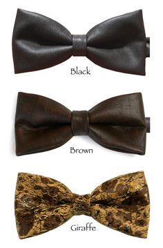 Faux leather bow tie bowtie burgundy brown by Equeglitz on Etsy, $28.00