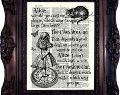 Alice in Wonderland Decoration. Alice in by OldStyleDesign on Etsy