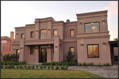 Clásica y moderna Bungalow House Design, House Front Design, Duplex House, Loft House, Classic House Exterior, House Paint Exterior, Casas Country, Plans Architecture, Casas Containers