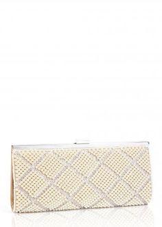 клатч Scarleton Pearl Crystal Clutch Shampagn