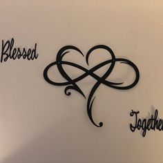 Infinity Heart Metal Sign - Infinity Symbol Metal Wall Art - Love Infinity Sign with Heart Intertwined - Gift for Couple, Wife, Husband Tribal Tattoos, Tattoos Skull, Love Tattoos, 3d Tattoos, Future Tattoos, Tatoos, Infinity Love Tattoo, Infinity Heart, Infinity Symbol Tattoos