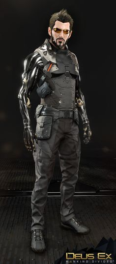 Here's some in-engine and zbruh renders of Adam Jensen, protagonist of Deus Ex: Mankind Divided. It was a real pleasure and learning experience to work on him and figure out the puzzle that was his body and augmentations. Cyberpunk City, Arte Cyberpunk, Cyberpunk Fashion, Deus Ex Universe, Universe Art, Character Concept, Character Design, Character Art, Concept Art