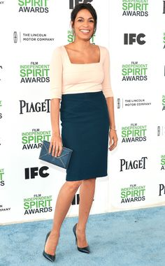 Rosario Dawson from 2014 Film Independent Spirit Awards: Red Carpet Arrivals | E! Online