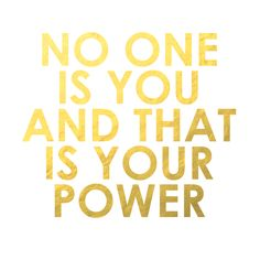 """No one is you and that is your power"" #DuplicataParis"