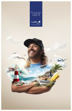 LAN Airlines | #ads #adv #marketing #creative #publicité #print #poster #advertising #campaign < repinned by www.BlickeDeeler.de | Visit our inspirational website www.Printwerbung-Hamburg.de
