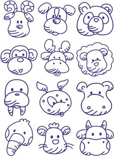 12 animal Embroidery Designs
