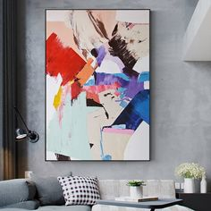 Abstract Color Splash Nordic Oil Painting Canvas Posters and Prints Scandinavian Cuadros Wall Art Picture for Living Room Decor Canvas Poster, Canvas Art Prints, Canvas Wall Art, Poster Prints, Oil Painting Abstract, Abstract Wall Art, Painting Canvas, Eugenia Loli, Contemporary Abstract Art