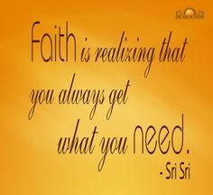 Quotes on Faith By Sri Sri Ravi Shankar