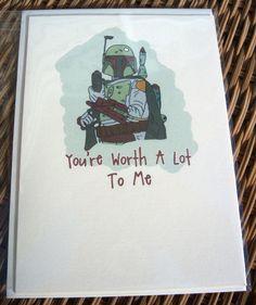 Star Wars Boba Fett Card by sweetgeek on Etsy.