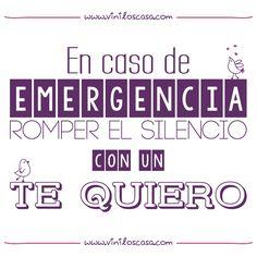 En caso de emergencia romper el silencio con un TE QUIERO ! - www.viniloscasa.com