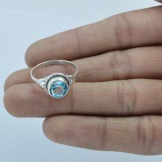 Beautiful sky blue topaz ring Blue Topaz  Ring by DevmuktiJewels