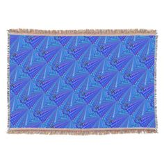 #Brilliant Blue Rose Pattern Throw Blanket - #WeddingThrowBlankets #Wedding #Throw #Blanket Wedding Throw Blankets