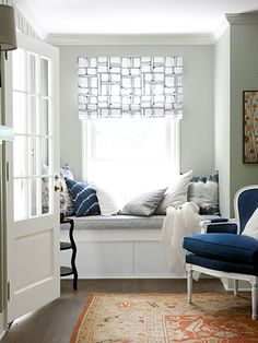 love this window seat reading nook Home Renovation, Home Remodeling, Cozy Bedroom, Bedroom Decor, Master Bedroom, Bedroom Bed, Cozy Reading Corners, Reading Nooks, Book Nooks