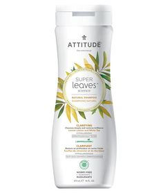 ATTITUDE Super Leaves Natural Shampoo Volume & Shine - Thanks to the genius of science, ATTITUDE Super Leaves products feature active ingredients, extracte Endocrine Disruptors, Lemon Leaves, Raspberry Ketones, Clarifying Shampoo, Soy Protein, Growth Factor, Brittle Hair, Natural Shampoo, Moringa Oleifera