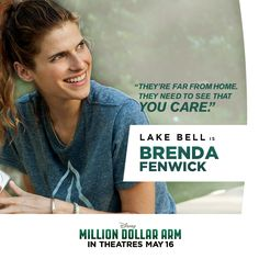 Meet Brenda: J.'s neighbor who helps him transition from bachelor to father-figure when Rinku and Dinesh move in. Disney Animation, Disney Pixar, Million Dollar Arm, Hk Movie, Lake Bell, Disney Live, Father Figure, Dreamworks, Tv Shows