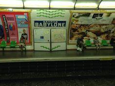 Paris metro Metro Paris, France, Spaces, Painting, Painting Art, Paintings, Painted Canvas, Drawings, French