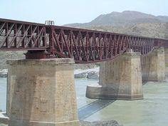 Old Attock railway bridge, over Indus river (1883 - Attock, Punjab, )