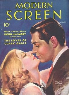 Modern Screen Magazine with Greta Garbo and Clark Gable 1931